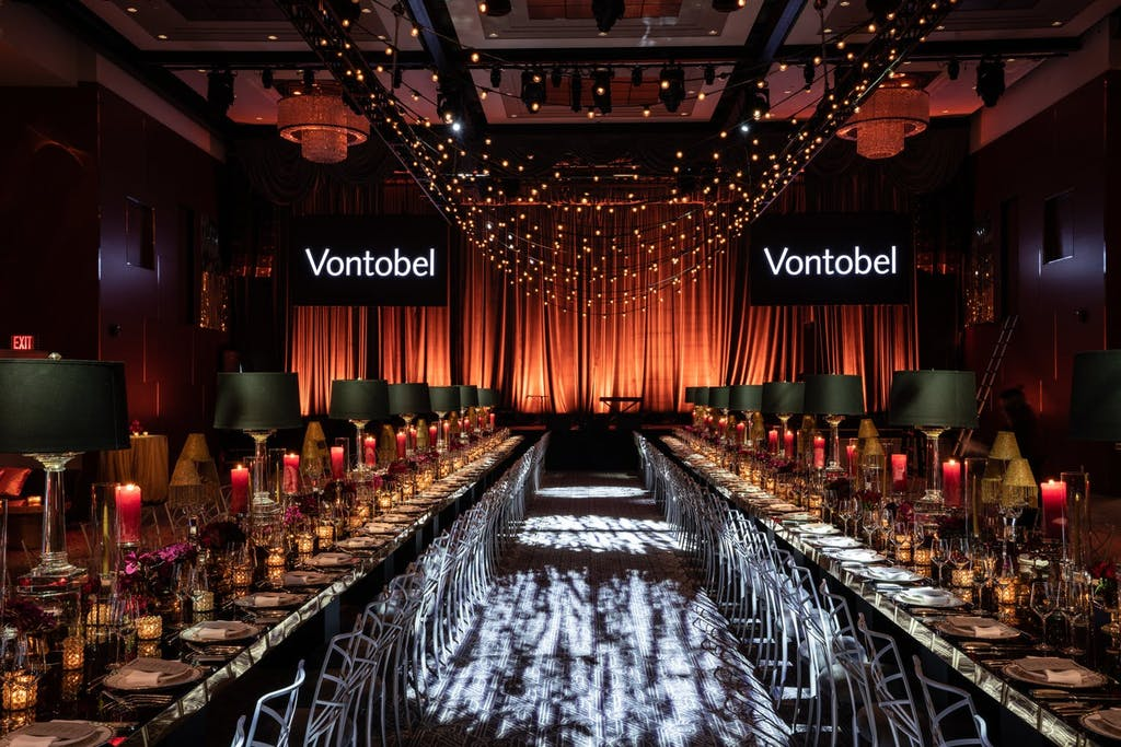 Vontobel Holiday party with banquet seating