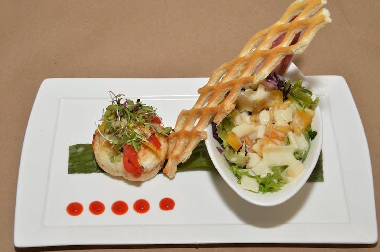 artfully-plated haute cuisine