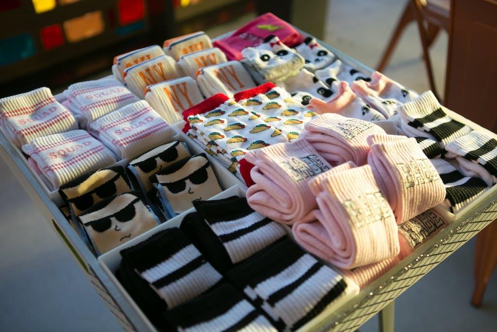 Custom-made sock party favors