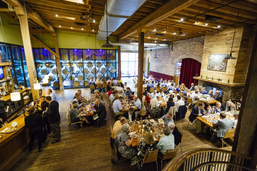 Wedding rehearsal dinner set at City Winery Chicago