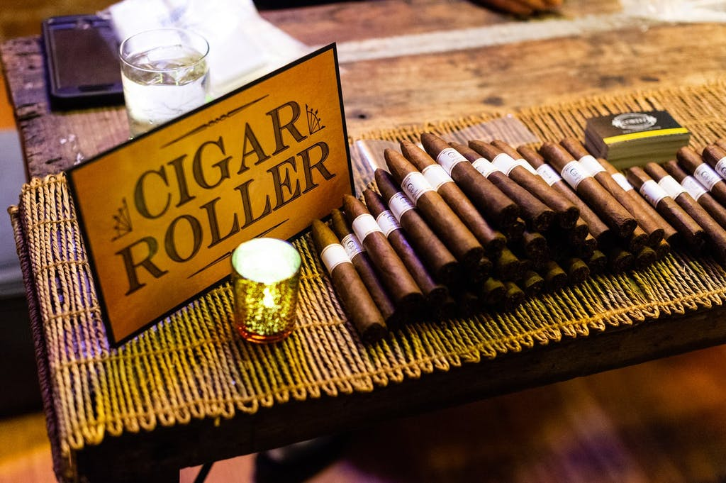 Rolled-cigar party favors