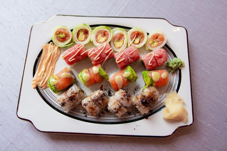 artfully plated sushi