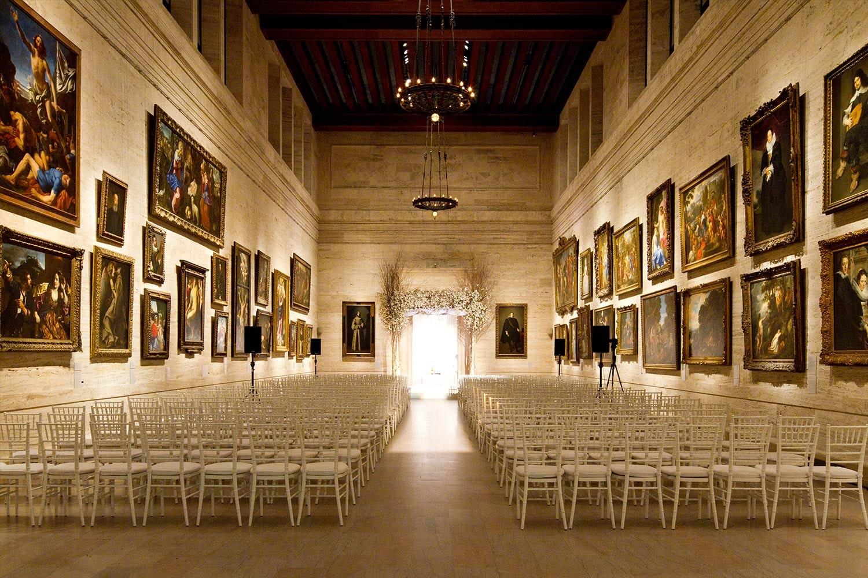 wedding ceremony in art gallery