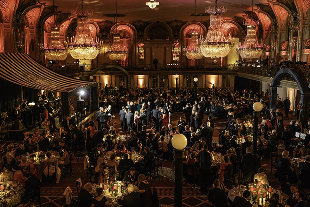 Lyric Opera hall filled with guests attending annual opening gala.