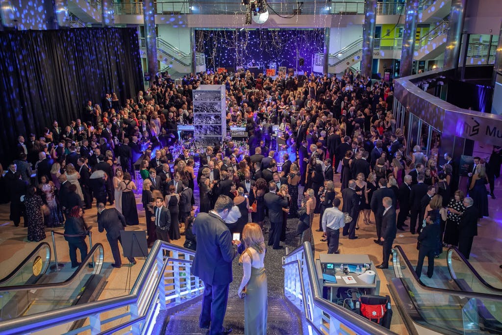 Guests gathered at Museum of Science and Industry, Chicago for annual gala.