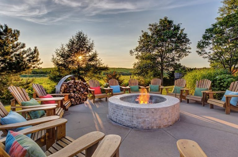 Pinstripes Chicago Baby Shower Venue in Chicago, IL With Outdoor Fire Pit
