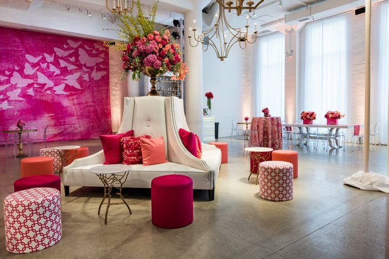 Chez Baby Shower Venue in Chicago, IL With Pink Décor and Accents