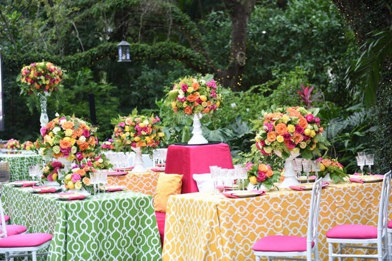 Citrus 50th Birthday Theme With Colorful Tablescapes | PartySlate