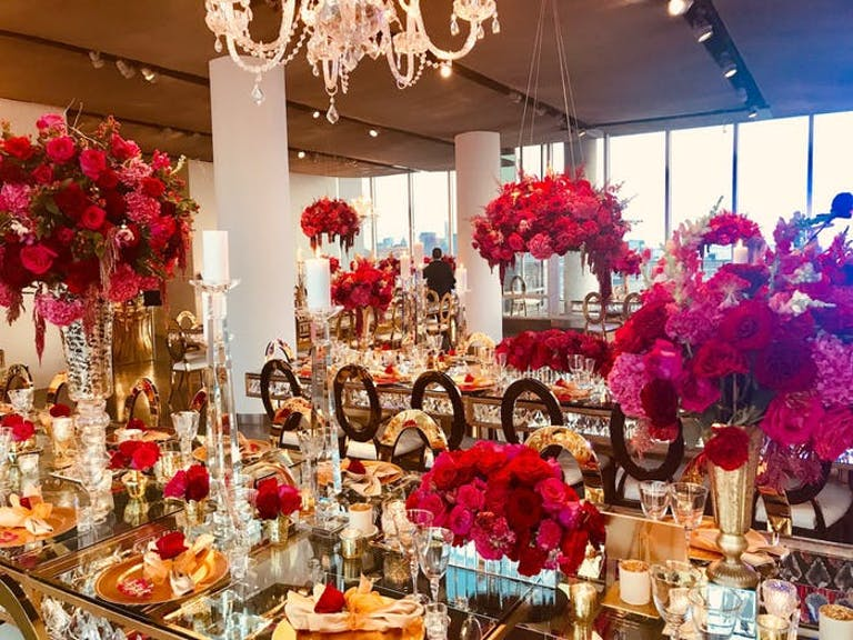 Glam 50th Birthday Party With Luxe Red Rose Décor | PartySlate