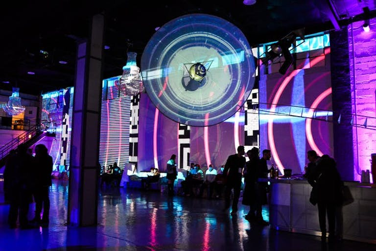 Space-Themed Party at Moonlight Studios in Chicago, IL With Projection Mapping and Installation Artwork | PartySlate