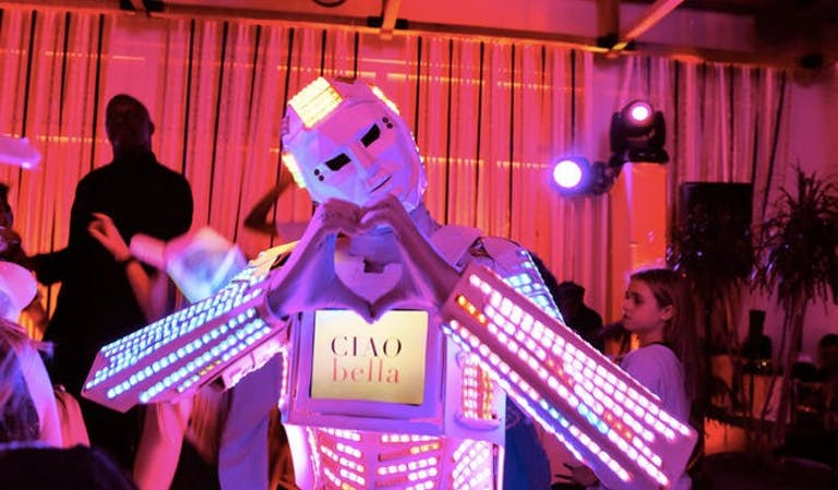LED Robot Entertainer at New York Bat Mitzvah Party | PartySlate
