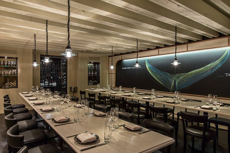 The Whale Room at GT Fish & Oyster in River North Chicago.