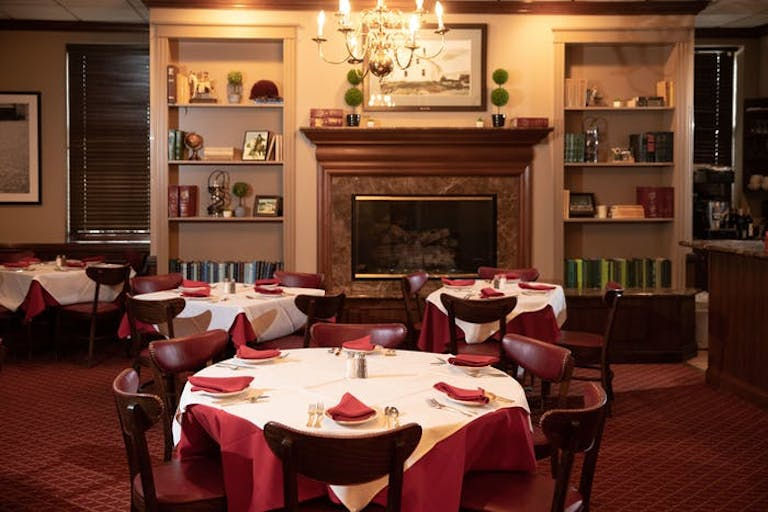 The Fireside Room at Gene and Georgetti Chicago in River North Chicago.