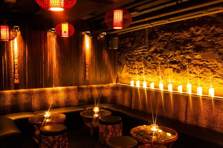 The Bamboo Room at Three Dots and a Dash in River North Chicago.