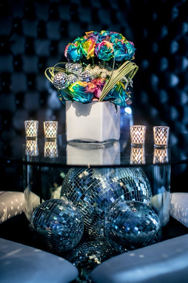 Disco Ball Floral Installation | PartySlate