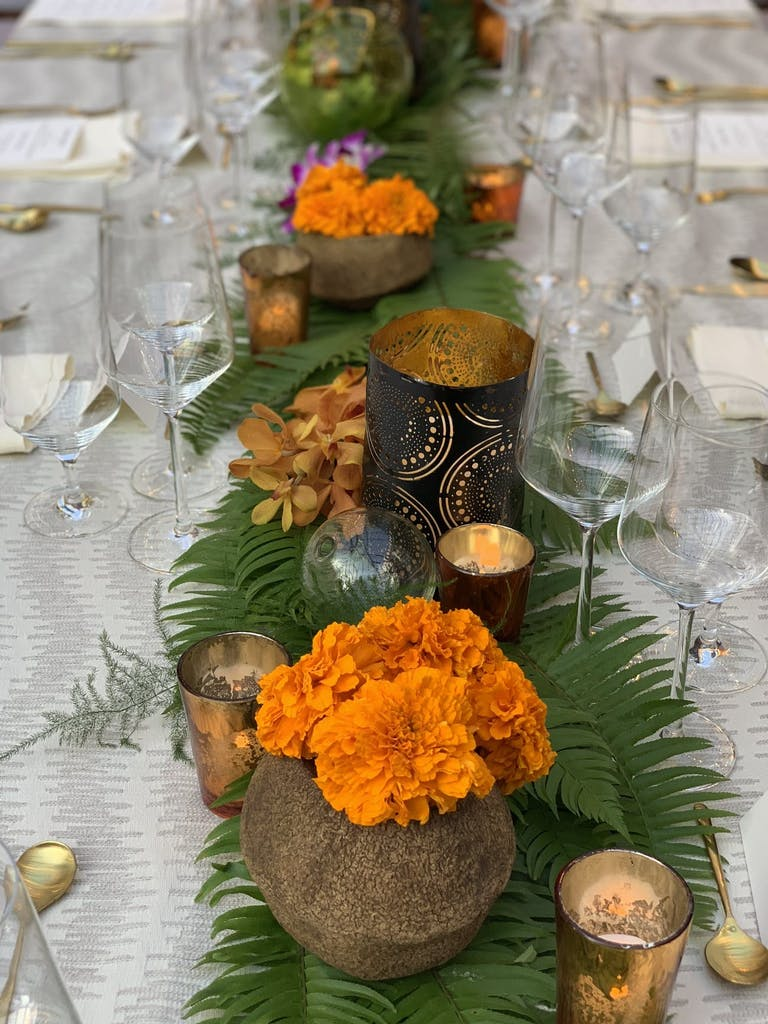 Bali-themed corporate dinner party.