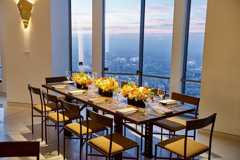 Corporate dinner party at OUE Skyspace LA