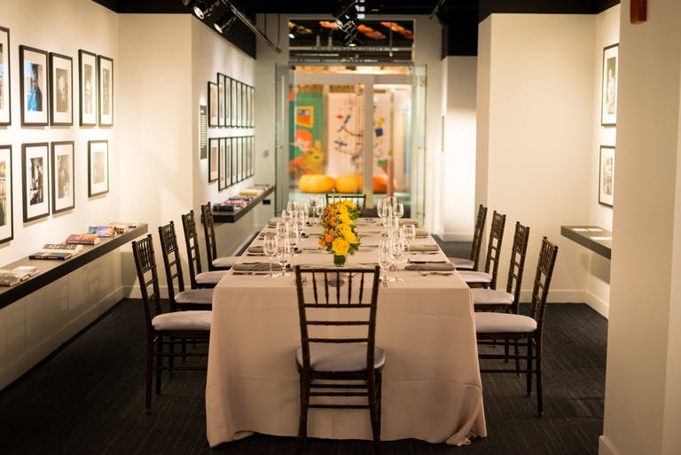 Corporate dinner party at The American Writers Museum in Chicago.
