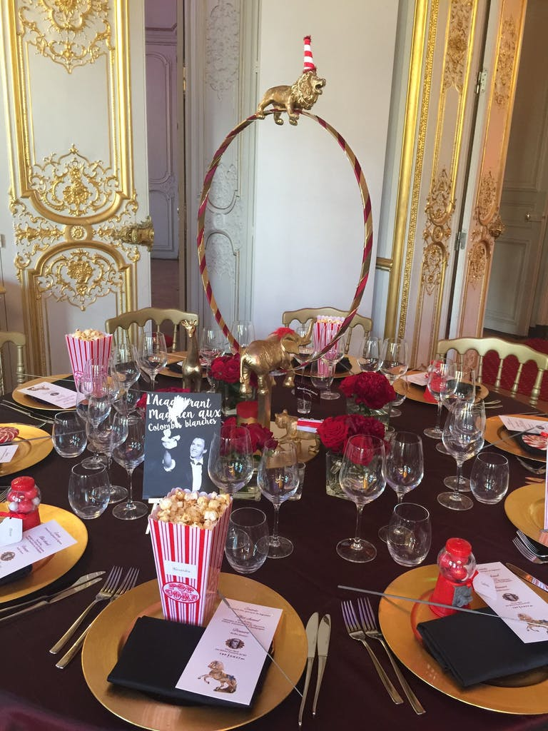 Circus Cabaret Birthday Celebration at Maison France Ameriques in Paris, France