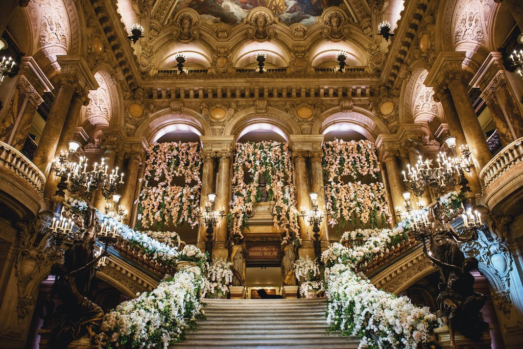 Cultural and Opulent Wedding Reception at the Opera de Paris in Paris, France