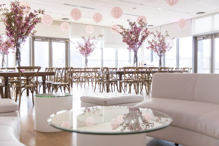 Elegant, Simple, & Special Pink Bat Mitzvah party at Manny Cantor Center in New York