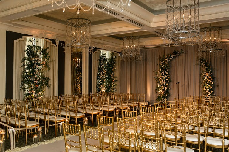 Exquisite Golden Chicago Wedding at Waldorf Astoria Chicago Hotel in Chicago, IL | PartySlate