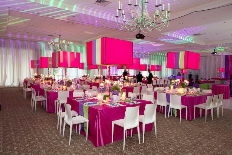 Glamorous Pink B'nai Mitzvah at Brae Burn Country Club in Purchase, NY