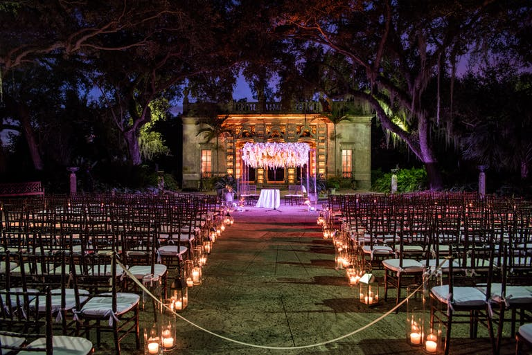 Miami Wedding Under the Stars at Vizcaya Museum & Gardens in Miami, FL | PartySlate
