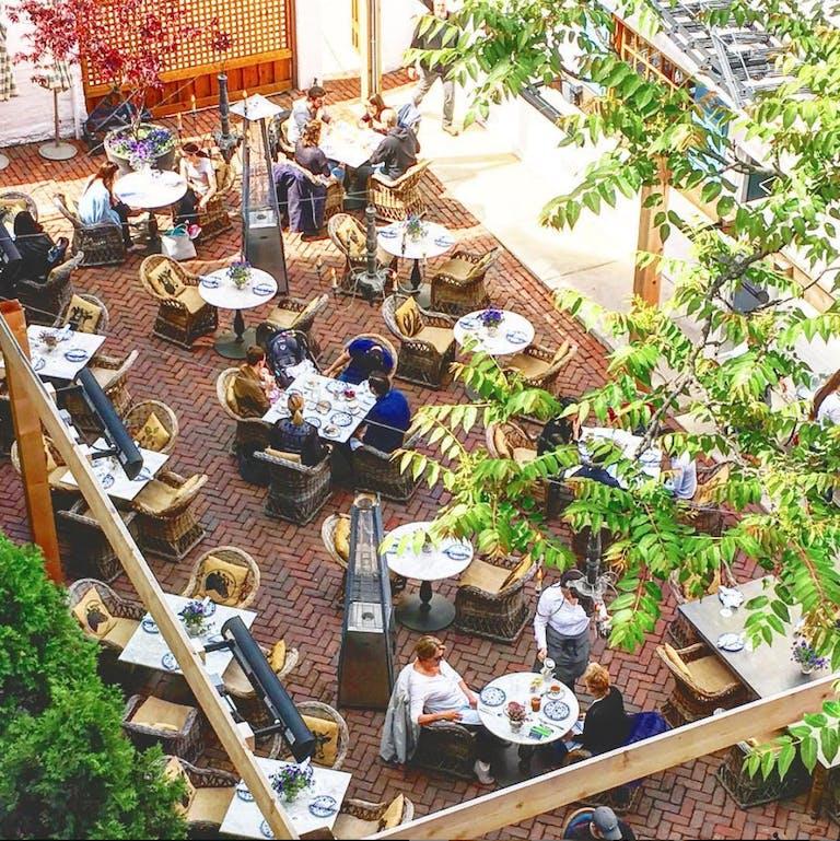 The Patio at Blue Door Kitchen & Garden in Gold Coast Chicago.