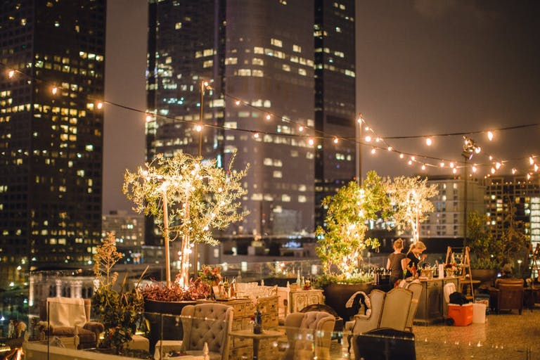 French-Vintage Birthday Party on Rooftop at Perch in Downtown Los Angeles   PartySlate