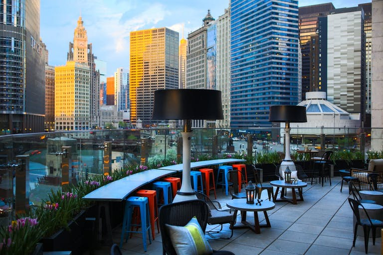 Outdoor Patio/Terrace at Raised | An Urban Rooftop Bar | PartySlate