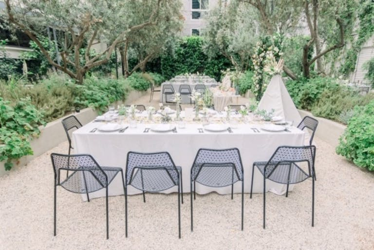 Beautiful Outdoor Garden Space at Redbird for Private Birthday Dinner in LA   PartySlate