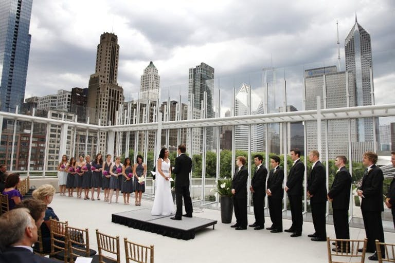 Rooftop Chicago Wedding at Bluhm Family Terrace at The Art Institute of Chicago | PartySlate