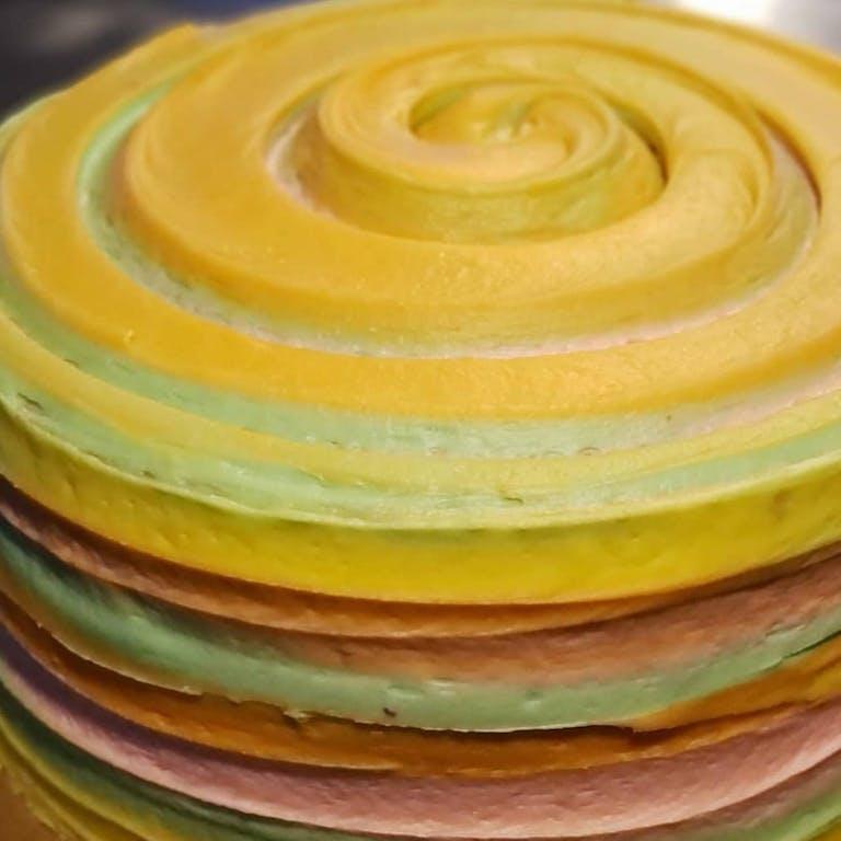 Brown Sugar Bakery swirled yellow cake