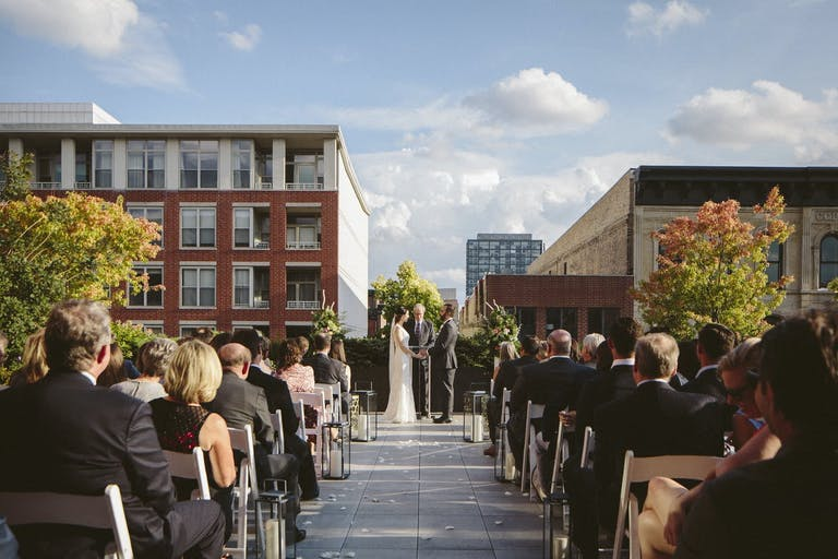 Chicago Rooftop Wedding at Outdoor Patio at Loft Lucia | PartySlate