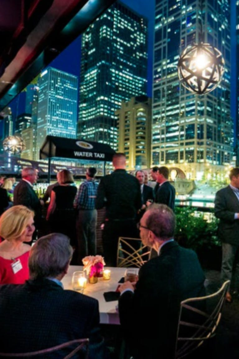 Private event at River Roast Social House along the Chicago River.