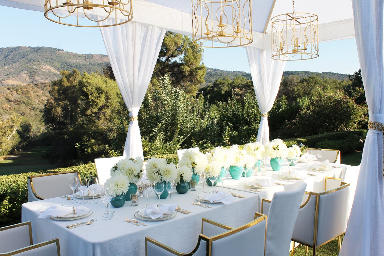 Small Birthday Party Ideas: An Intimate Tablescape Set in an Expansive Mountain Backdrop | PartySlate