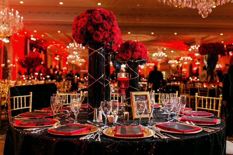 Colorful Autumn Wedding Reception at The Rockleigh in New York