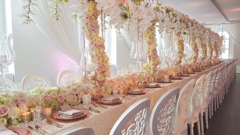 Dreamy Plush Pink Tented Wedding at 620 Loft & Garden in New York