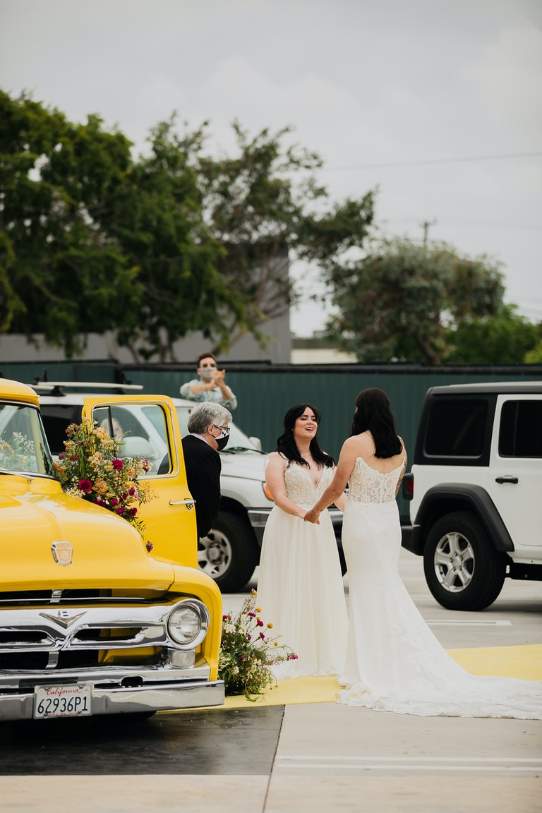 Fun and Colorful Drive Thru Wedding
