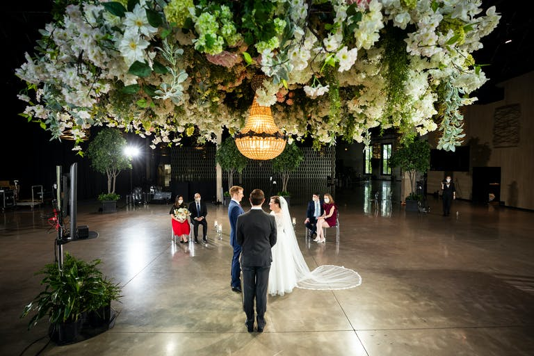 Gorgeous Virtual Ballroom Wedding
