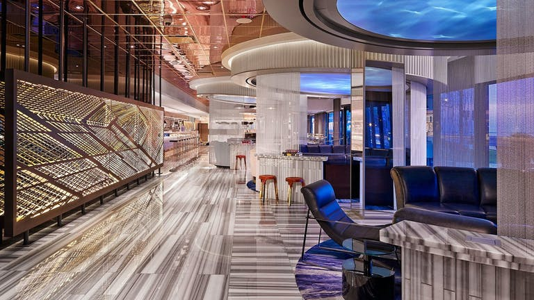 Sleek modern lobby at the W Hotel at Lakeshore in Chicago, IL | PartySlate
