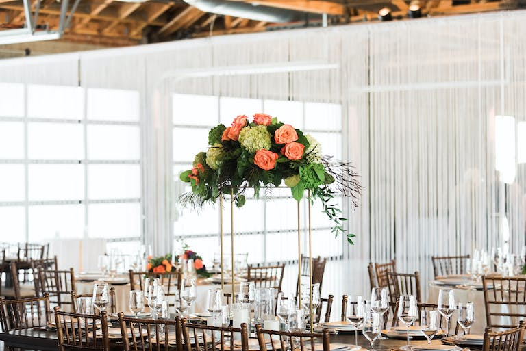 Industrial Floral Wedding at City Market Social House in Los Angeles, CA