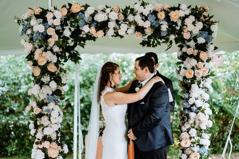 Intimate Pandemic Wedding with Virtual Guests and a Celebrity Planner Host