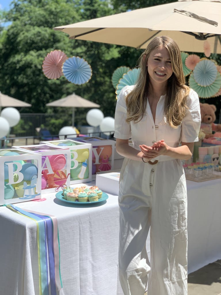 Magical Outdoor Gender Reveal Party in Harrison, New York