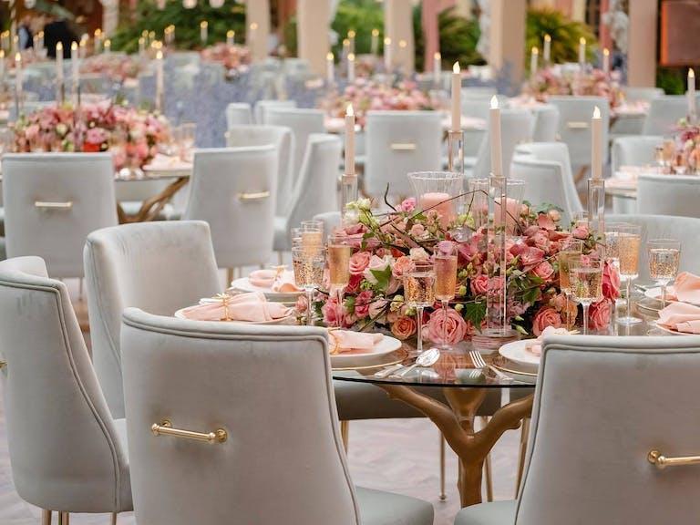 Peach- Choral Home Wedding in Kuwait