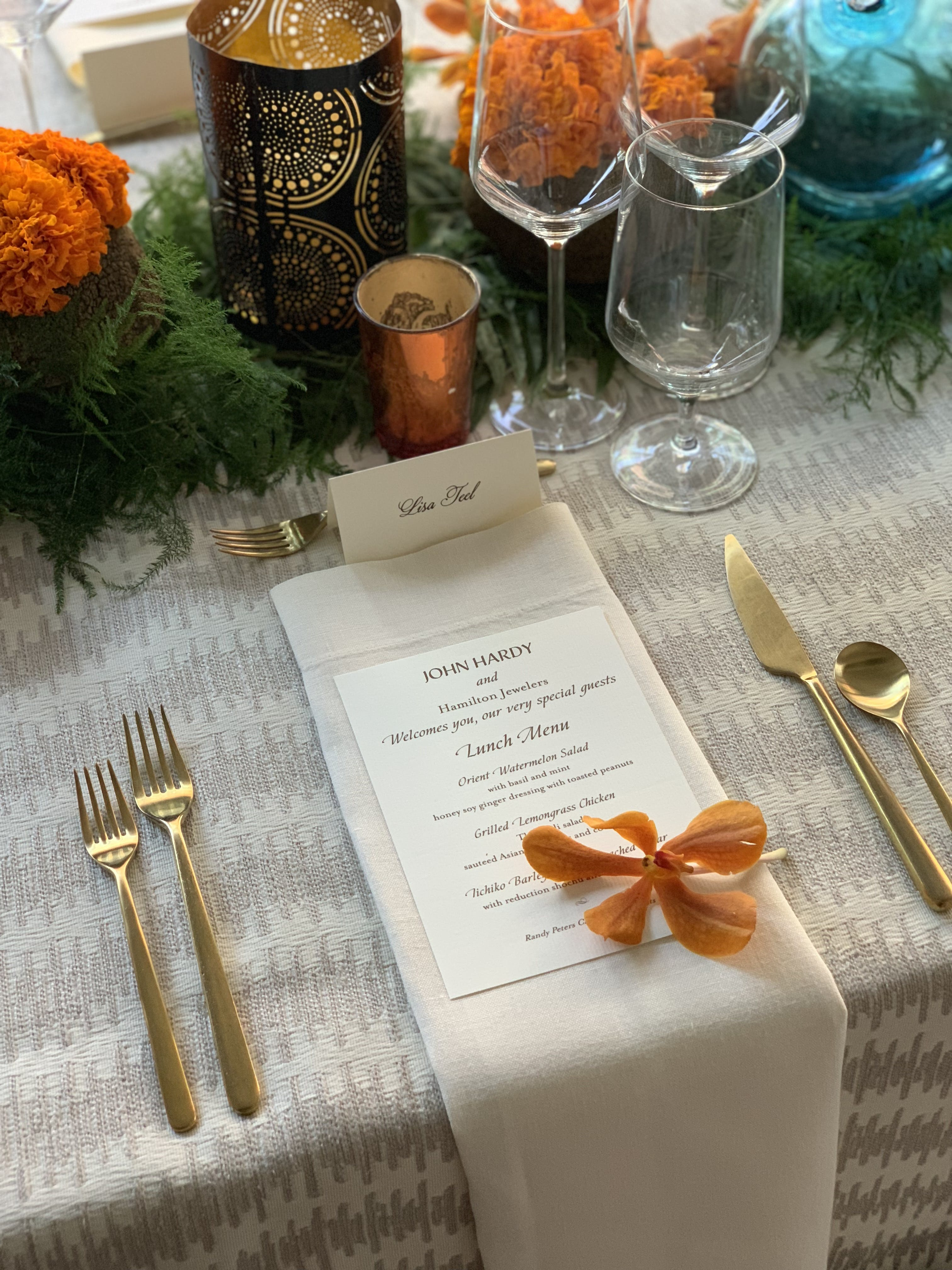 Stunning Bali-Inspired Client Appreciation Luncheon at Hamilton Jewelers Pavilion in Sacramento, CA