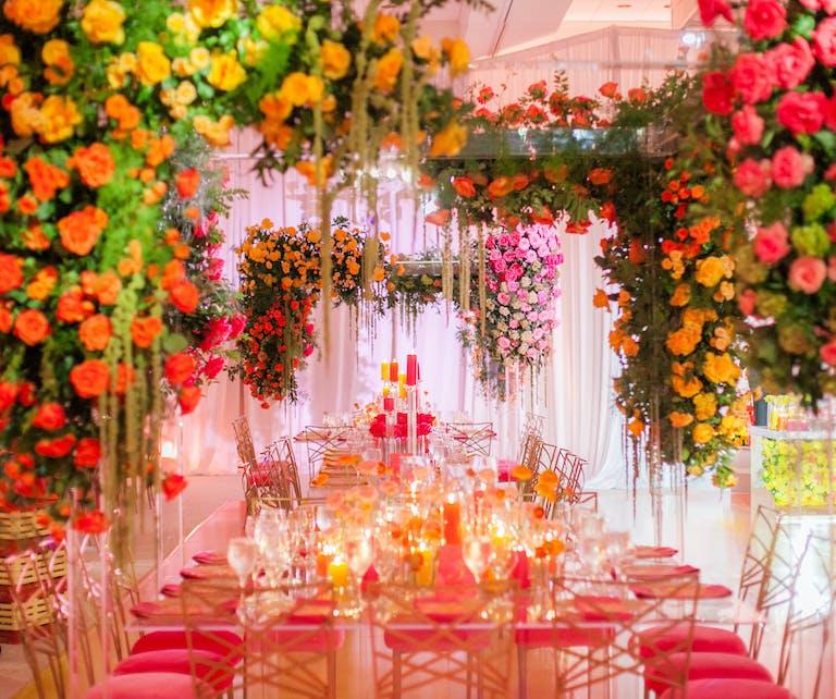 Technicolor Rooftop Wedding at Hyatt Regency Jersey City in Jersey City, NJ