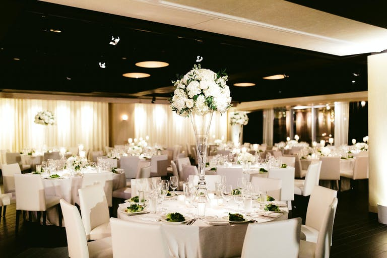 Waterfront White Floral Wedding at RPM on the Water in Chicago, IL