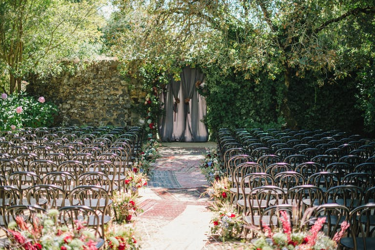 Bright Garden Wedding at Annadel Estate Winery in Santa Rosa, CA With Creative Wedding Aisle Décor